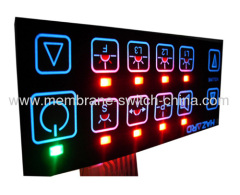 EL backlight membrane keypad/membrane switch panel