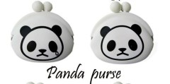 Panda design silicone coin bag bank bag for sale