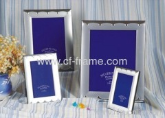 """6"""" x 8"""" metal sliver plated picture frame"""