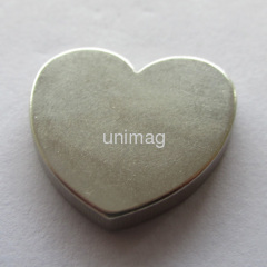 Hearted shaped ndfeb permanent magnet