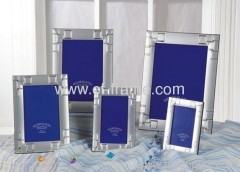 """8x10"""" metal sliver plated picture frame"""