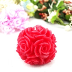 Wedding Red Rose Ball Craft Candle (RC-448)