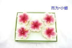 Red Flower Craft Candle (RC-0074)