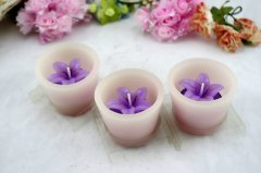 Purple Flower Craft Candle (RC-322)