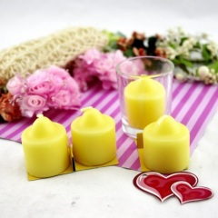 Yellow Household Votive Pillar Craft Candle (RC-373)