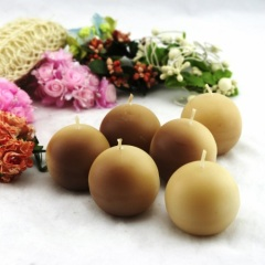 Brown Ball Craft Candle (RC-351)