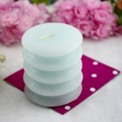 Blue Spiral Pillar Craft Candle (RC-323)