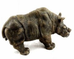 Rhinoceros Wax Craft Candle Statue