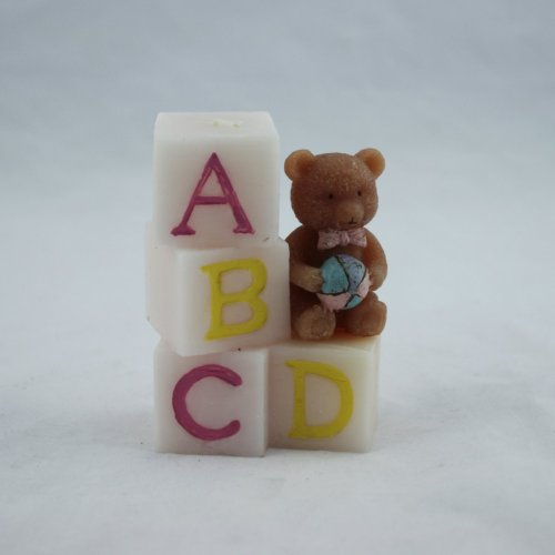 Letter Bear Craft Candle Gifts for Kids