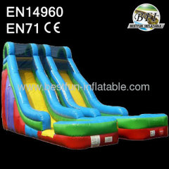 dual lane pool waterslide