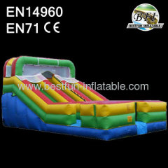 Dual lane inflatable slides