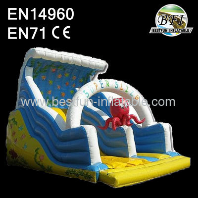 Cheap inflatable octopus slides