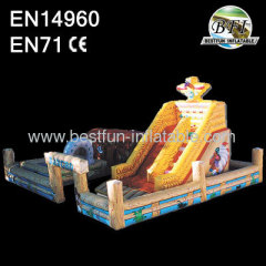 Wild West giant inflatable slide