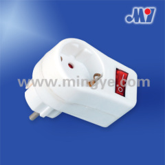 German standard Adapter witch switch