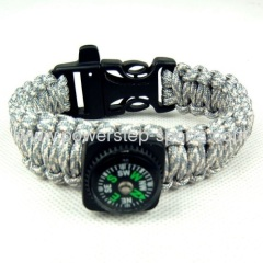 550 paracord umbrella rope popular bangles with compass