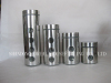 polished steel glass canisters and jars
