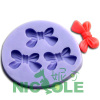 silicone rubber mini flower molds resin crafts mold nicole polymer clay molds