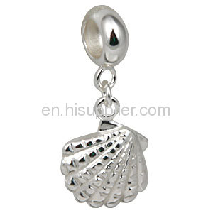 2013 european 925 Sterling Silver Shell Pearl Charm For Sale