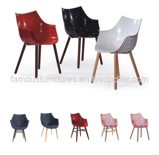 PC wood simple modern ergonomic Meridiana dining chair