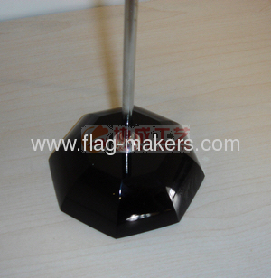 Iron Y-shape table flag black crystal stand