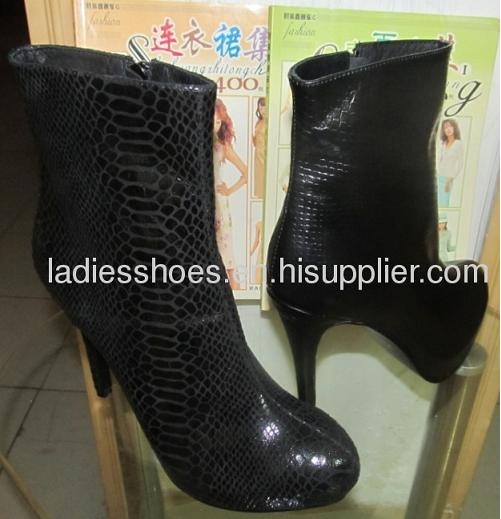competitive pirce for ladies high heel ankle dress boots