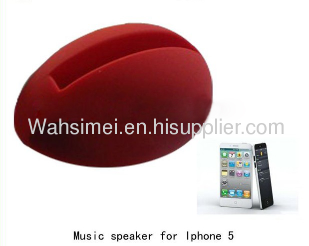 Fashion and Cute music egg silicone stander for iphone