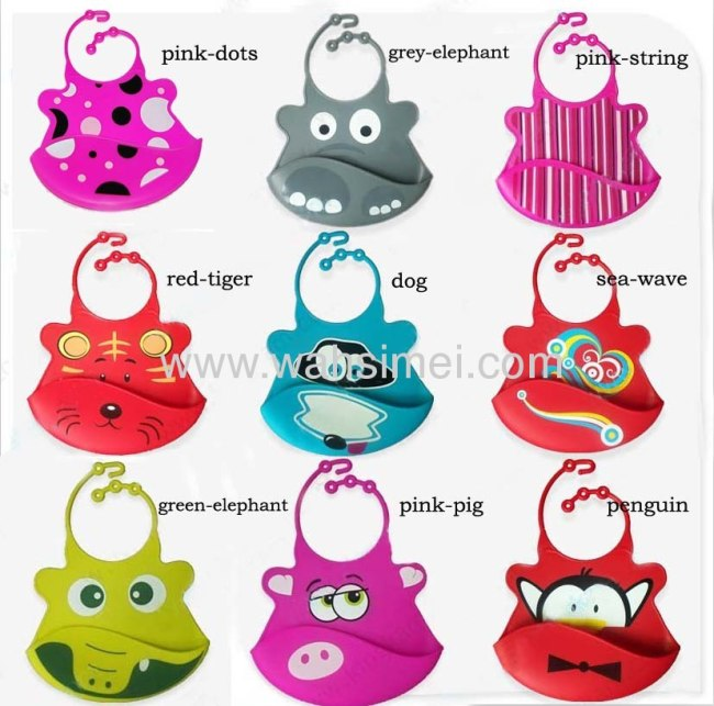 Fashion silicone baby bib for lovley children