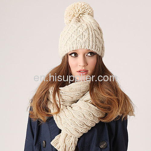 Hand Knitted Scarves And Hats And Shawls From China Manufacturer