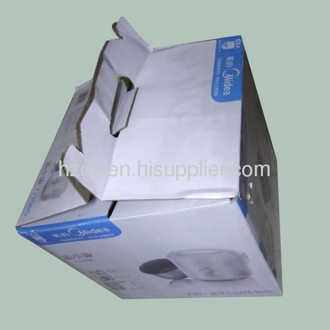 Single layer corrugated carton box for electric cooker