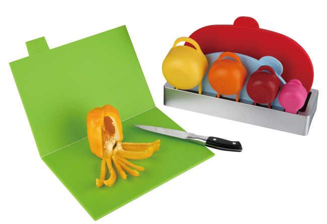 3pcs set chopping board and 4pcs measuring cup (2pcs folding and 1 pcs un-folding)