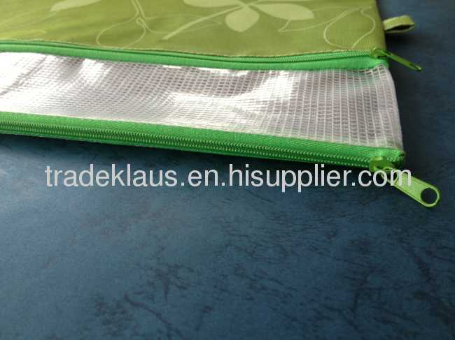 simple mesh stationery pvc bag with special closure