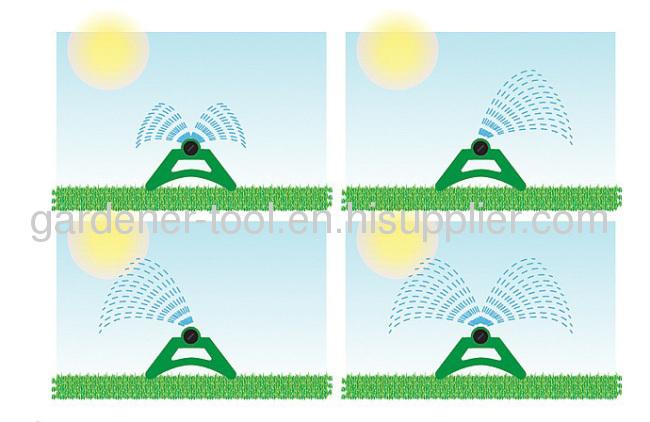 17-hole oscillating garden lawn sprinkler with aluminium tube
