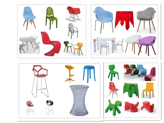 PP glossy color wooden legs living room ergonomic chair dining room chair