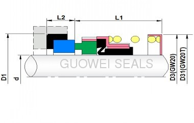 Pump Shaft Single-Spring Elastomer bellow Seal