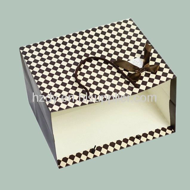 250G Ivory / white board paper bag for shopping matte lamination