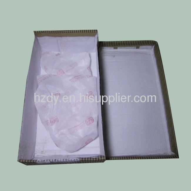 Single layer corrugated carton box for shoes top lifted