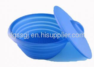 Folding Silicone Microwave Steamer with Lid
