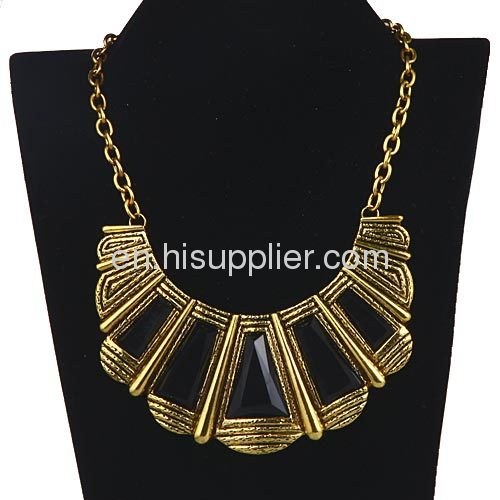 Retro Jewellery Scalloped Choker Collar Vintage Bib Necklace