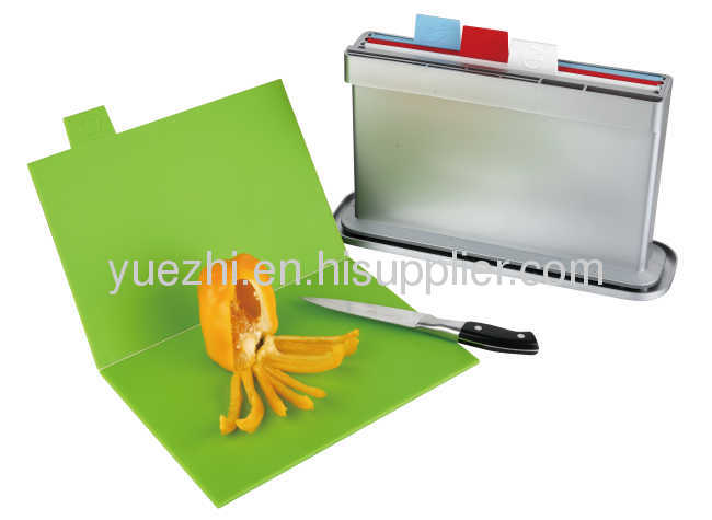 4pcs set chopping board with water pan, one side knife shelves (folding and un-folding each 2pcs)