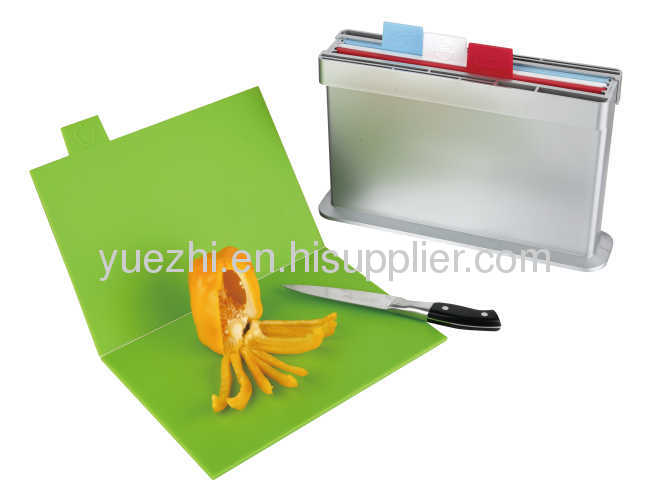 4pcs set chopping board, two sides knife shelves (folding and un-folding each 2pcs