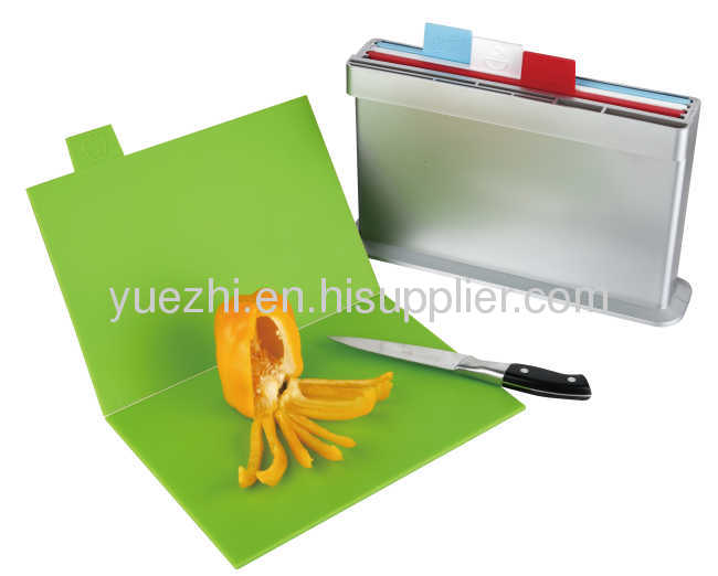 4pcs set chopping board, one side knife shelves (folding and un-folding each 2pcs)