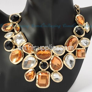 Crystal Stone Statement Chunky Bib Necklace Nordstrom Cheap