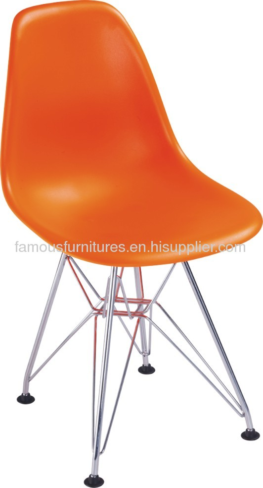 clear acrylic steel legs eames DSR baby dining chairs