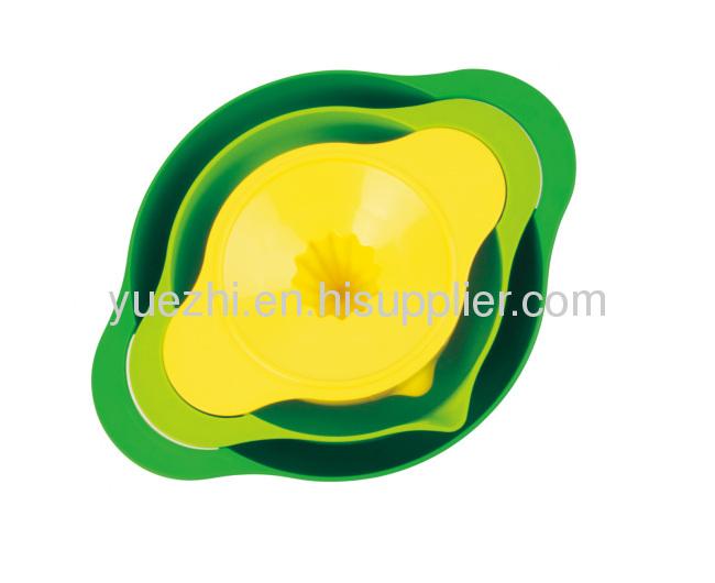 3pc Multi--coloured mixing bowl set