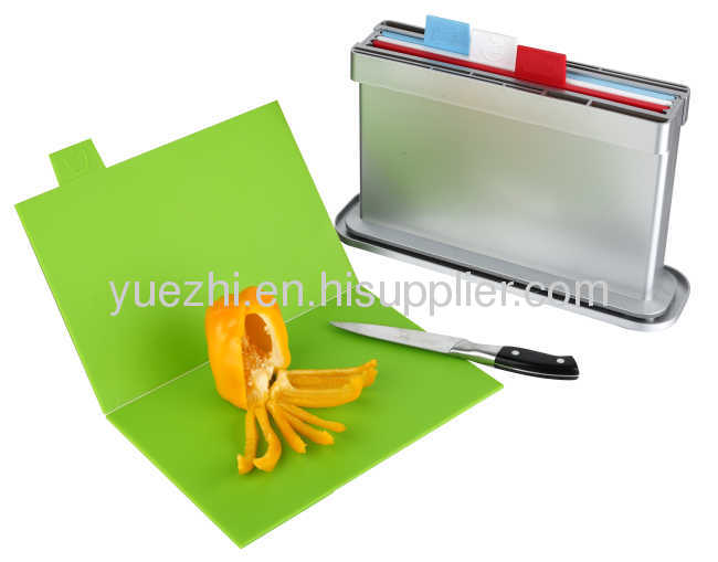 4pcs set chopping board with water pan,two sides knife shelves ( folding and un-foldingeach 2pcs)