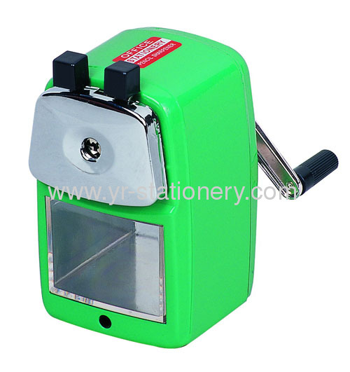 Plastic manual sharpener with handle for kids