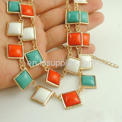 Kate Spade Double Layer Candy Square Beaded Necklaces
