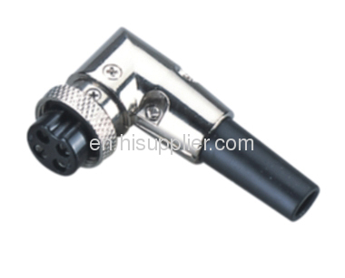 3pin female Right-angle art circle connector