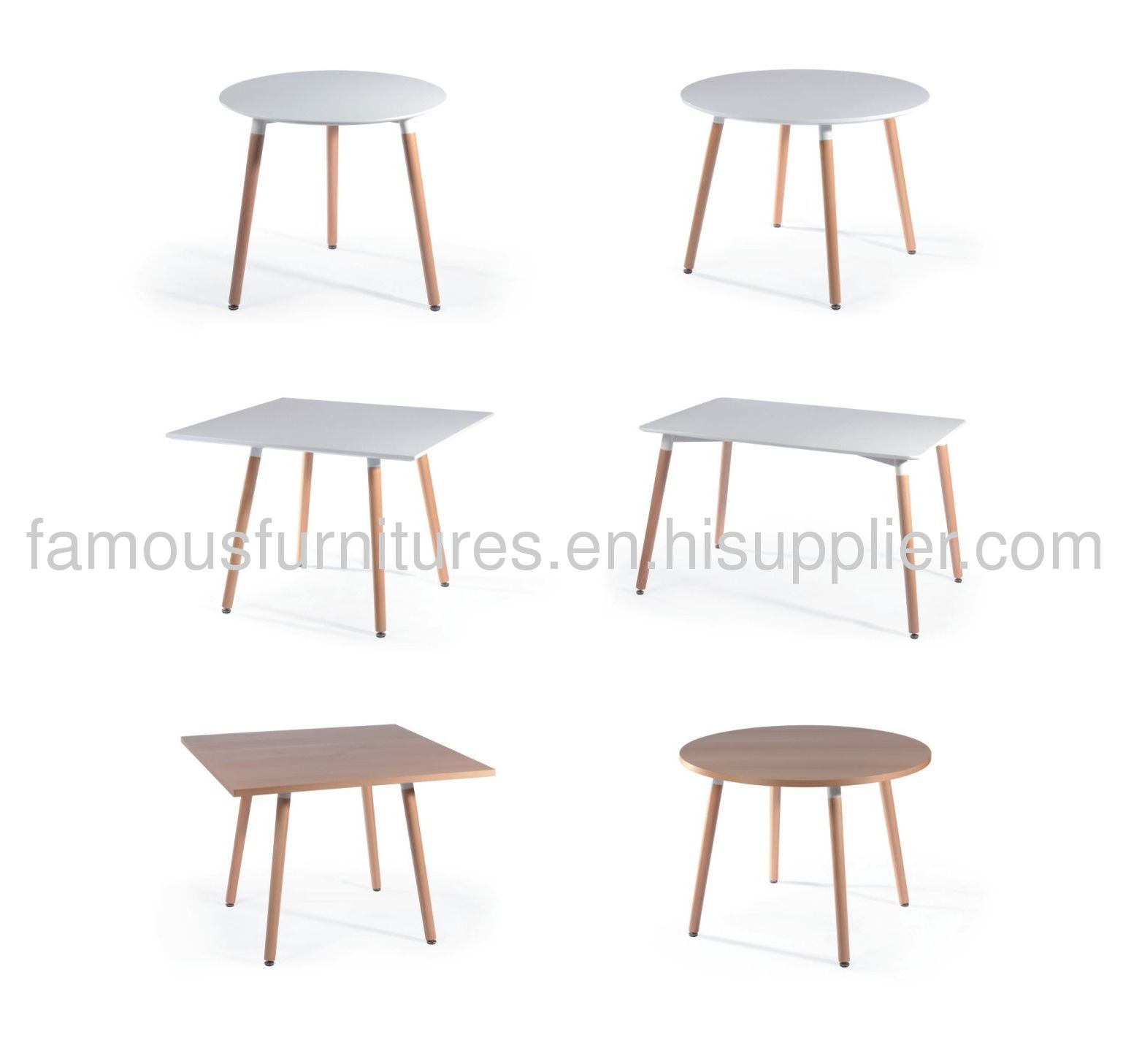 classic fine non-foldable wooden round dining tables
