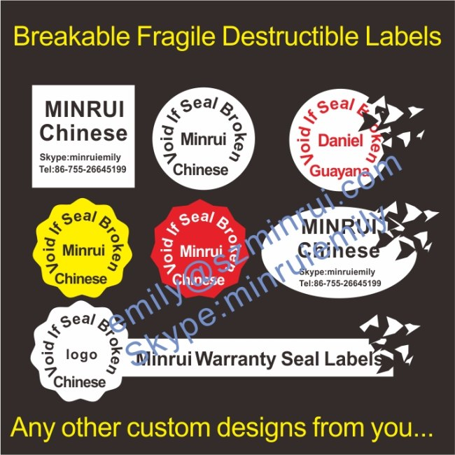 Laminated Egg Shell Fragile Labels From China Manufacturer